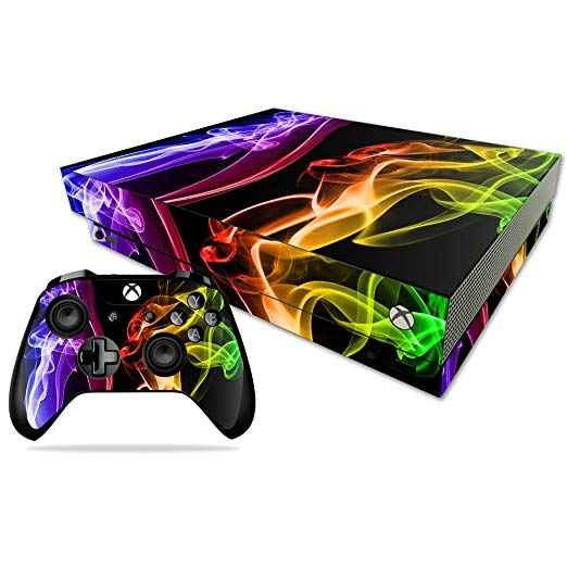 MightySkins Skin for Microsoft Xbox One X - Bright Smoke | Protective, Durable, and Unique Vinyl Decal wrap Cover | Easy to Apply, Remove, and Change Styles | Made in The USA
