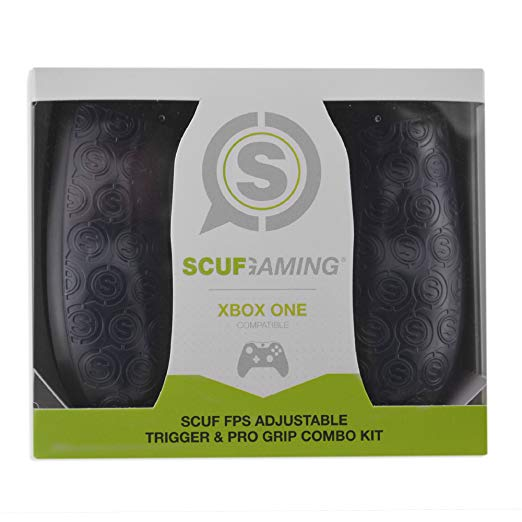 SCUF FPS Adjustable Trigger & Pro Grip Combo Kit - Xbox One Compatible (Gray) by Scuf Gaming