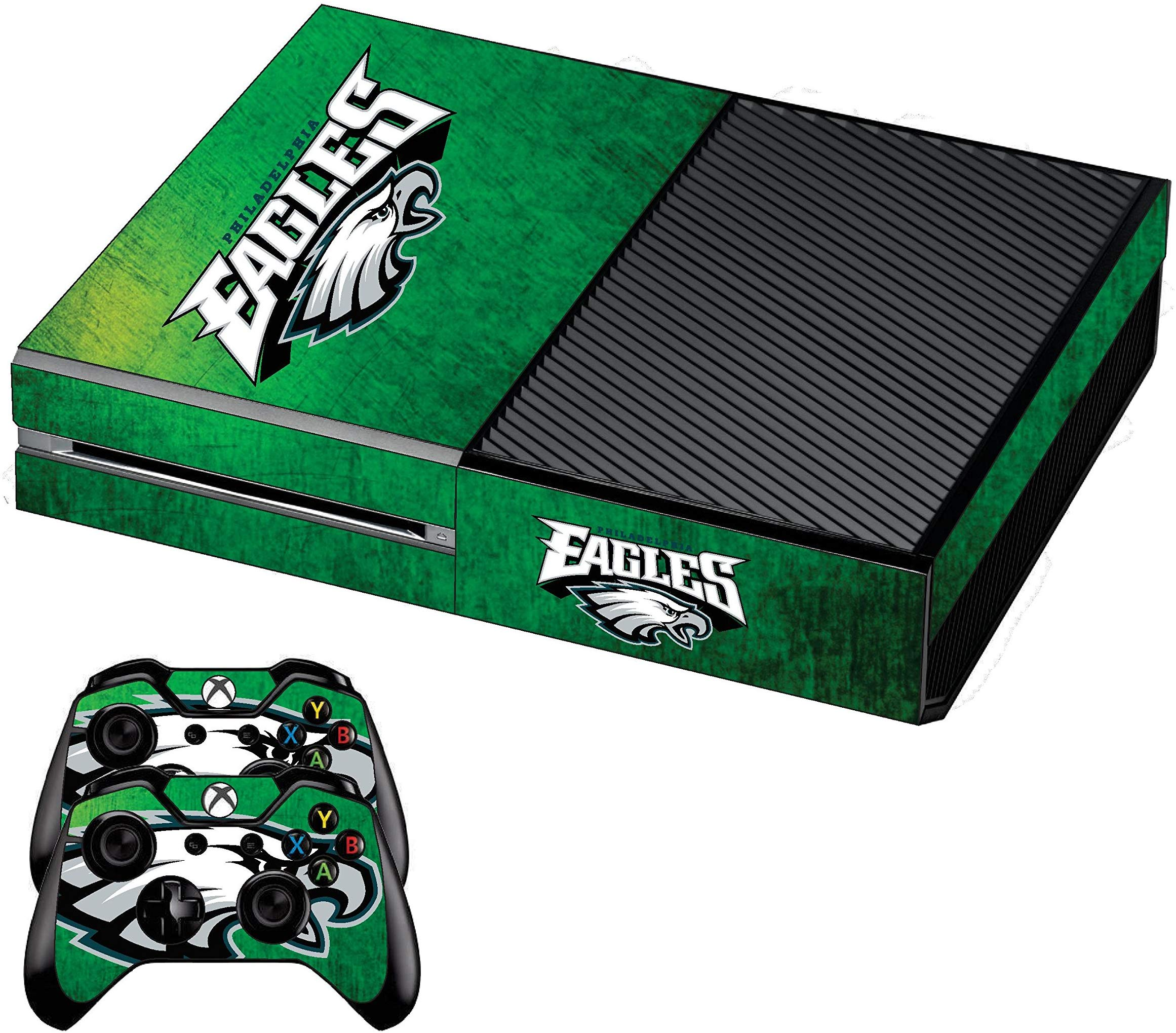 Xbox One Premium Designer Console Skin Eagles + Bonus 2 Free Xbox One Controller Skins