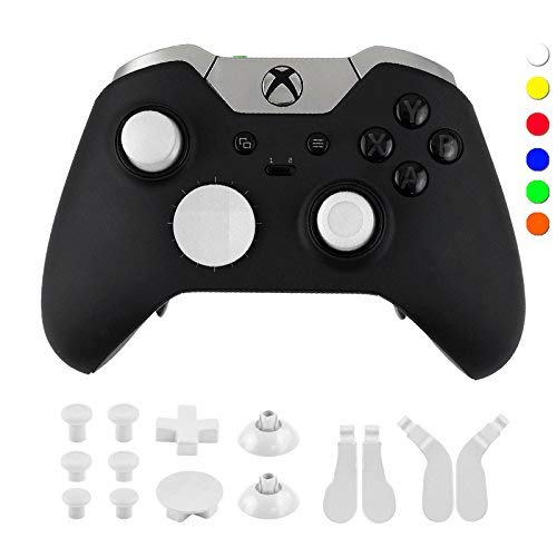 WPS Metal Alloy Bumper Trigger Button Set for XBOX One Elite Controller with Open Tools ( T6 T8 ) - White
