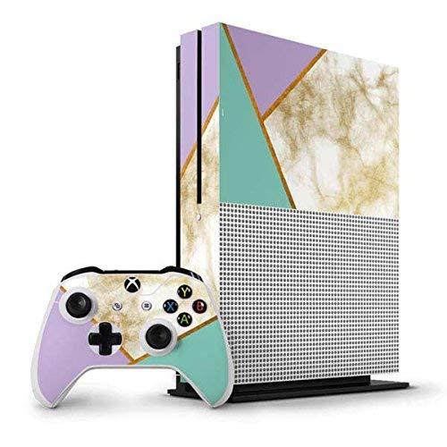 Marble Xbox One S Vertical Bundle Skin - Angled Marble Vinyl Decal Skin For Your Xbox One S Vertical Bundle