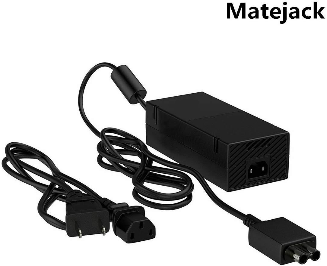 Xbox One Power Supply,Matejack NEW Xbox One Power AC Adapter,Xbox One AC Adapter Charger Cord(100V-127V,16.5A,Quietest Version)-Xbox One AC Power Adapter-US Plug