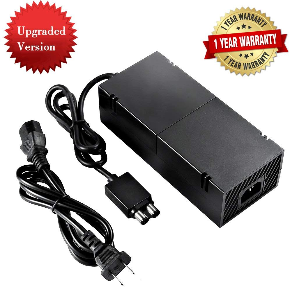 Xbox One Power Supply Brick,[QUIET VERSION] AC Adapter Replacement Charger with Power Cord 100-240V Console compatible for Microsoft Xbox 1